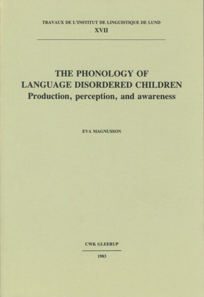 The phonology of language disordered children