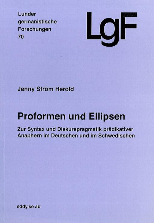 Proformen und Ellipsen